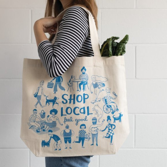 "Promo ""Shop Local"" Tote Bag NWT"